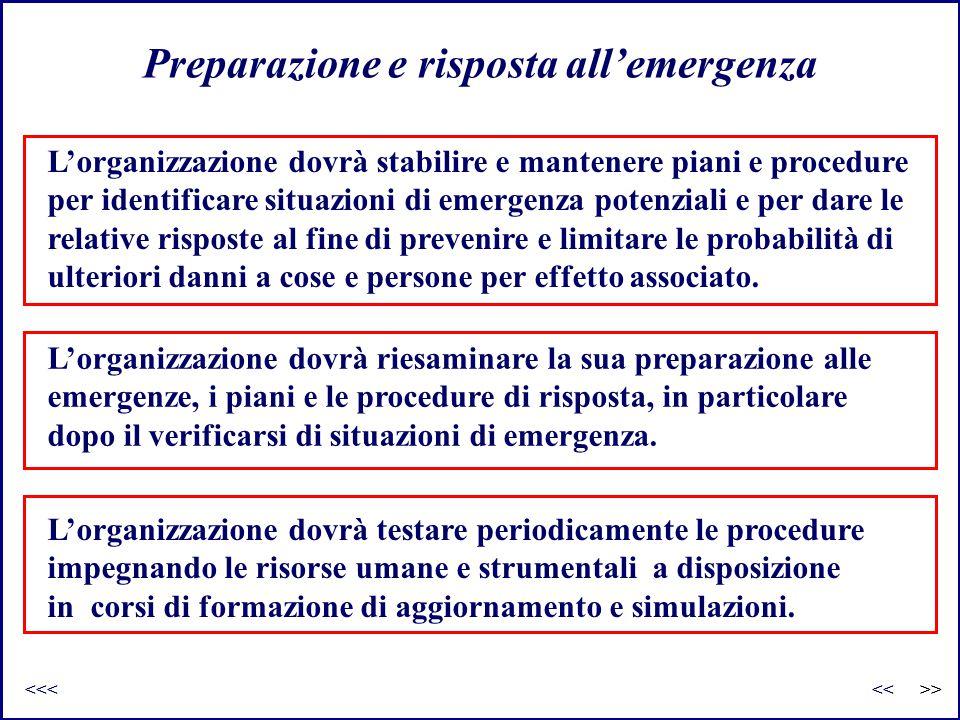 Preparazione e risposta all'emergenza