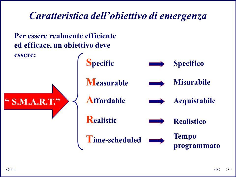 Caratteristica dell'obiettivo di emergenza