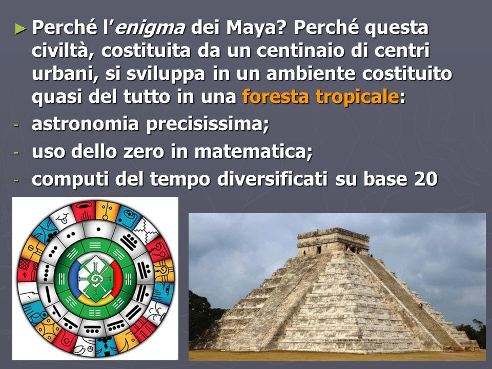 Perché l'enigma dei Maya