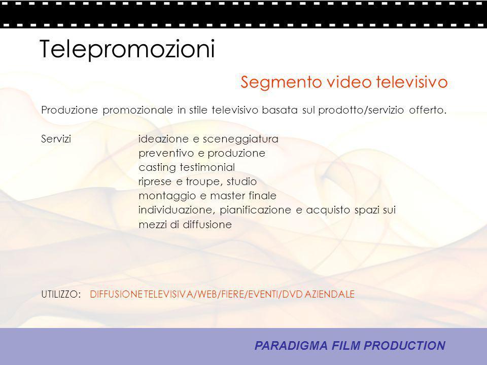 Telepromozioni Segmento video televisivo