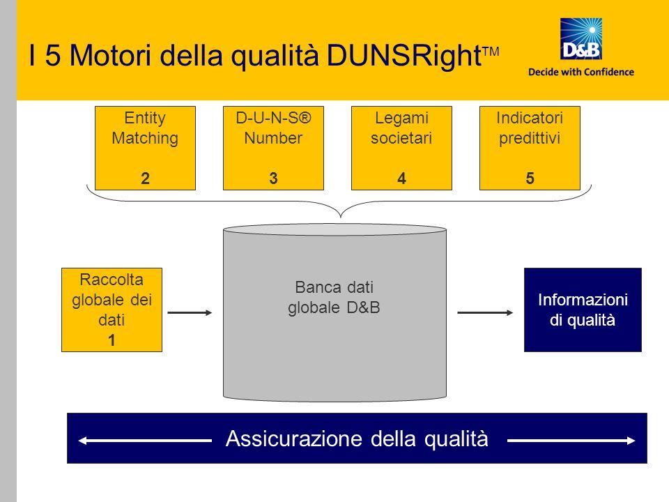 I 5 Motori della qualità DUNSRightTM