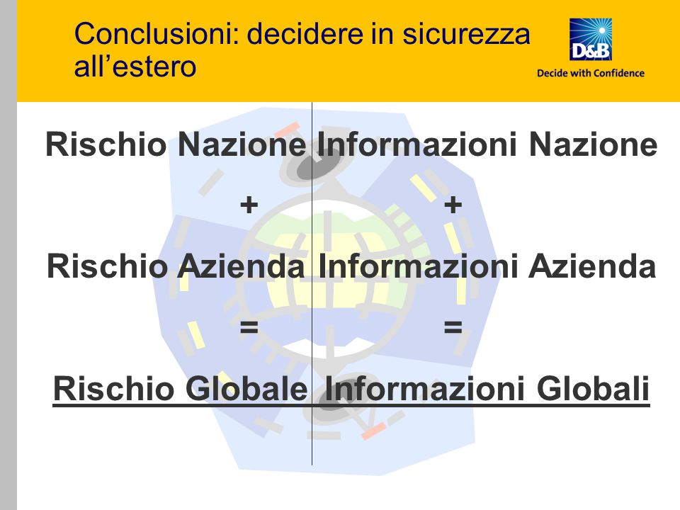 Conclusioni: decidere in sicurezza all'estero