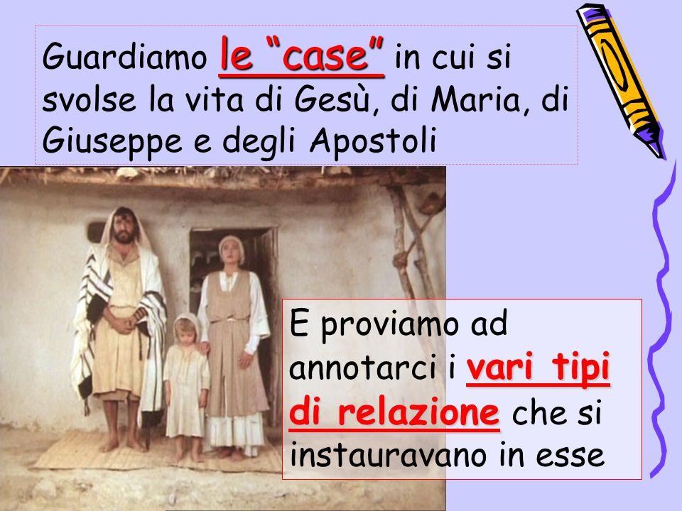 Guardiamo le case in cui si svolse la vita di Gesù, di Maria, di Giuseppe e degli Apostoli