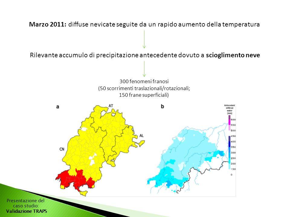 Marzo 2011: diffuse nevicate seguite da un rapido aumento della temperatura