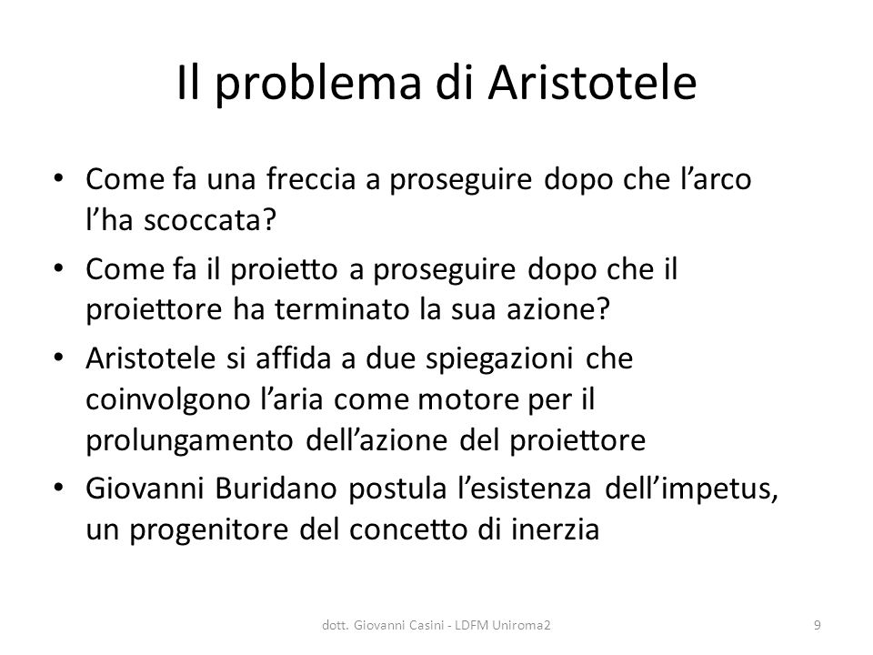 Il problema di Aristotele
