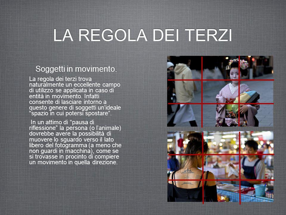 LA REGOLA DEI TERZI Soggetti in movimento.
