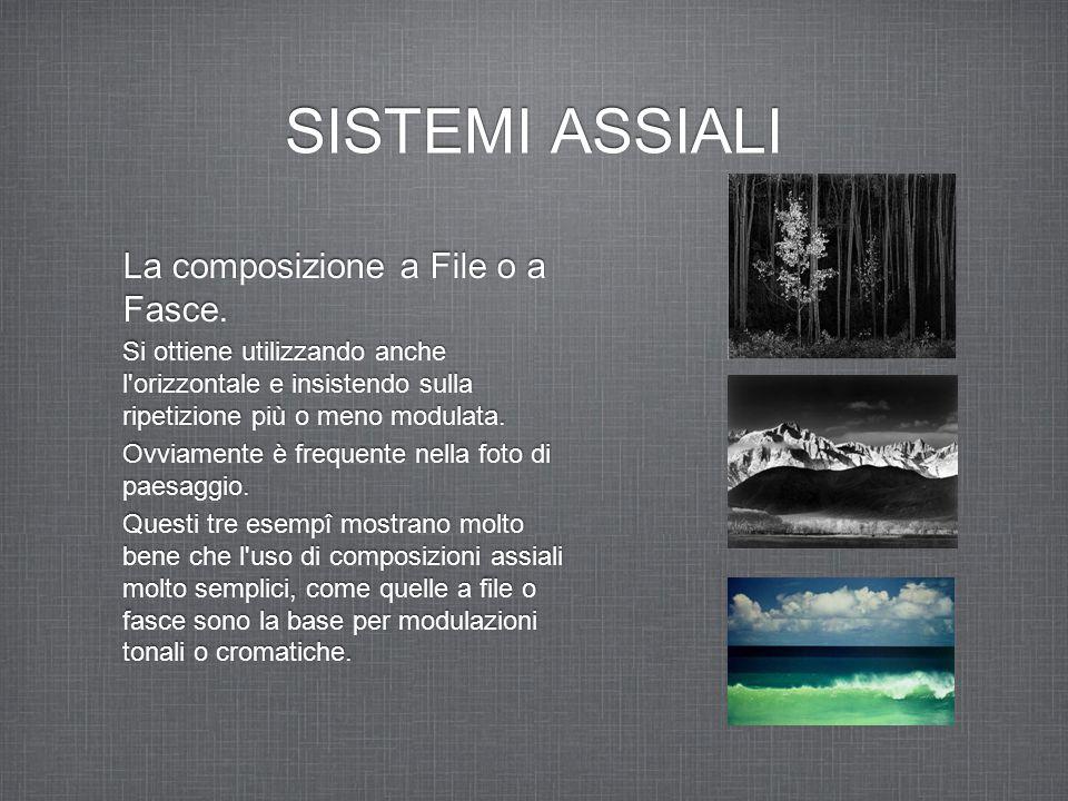 SISTEMI ASSIALI La composizione a File o a Fasce.