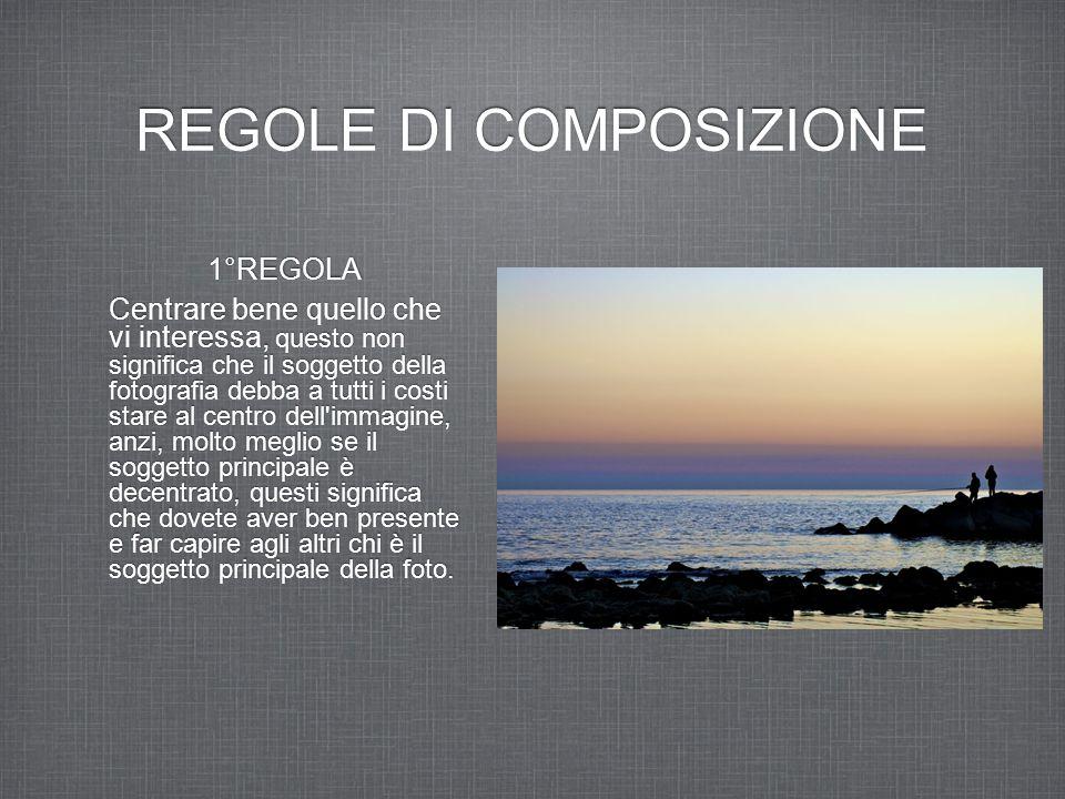 REGOLE DI COMPOSIZIONE