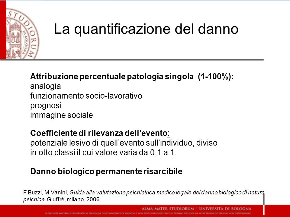 La quantificazione del danno