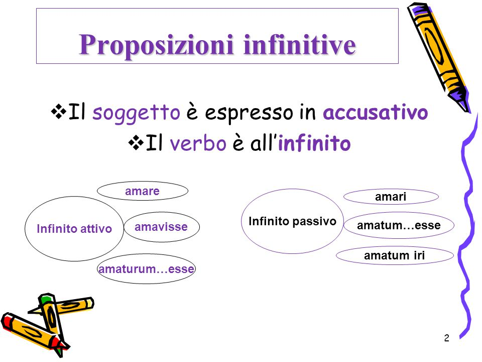 Proposizioni infinitive