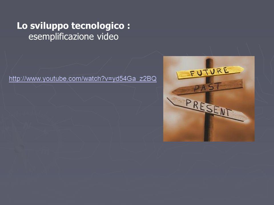 Lo sviluppo tecnologico : esemplificazione video
