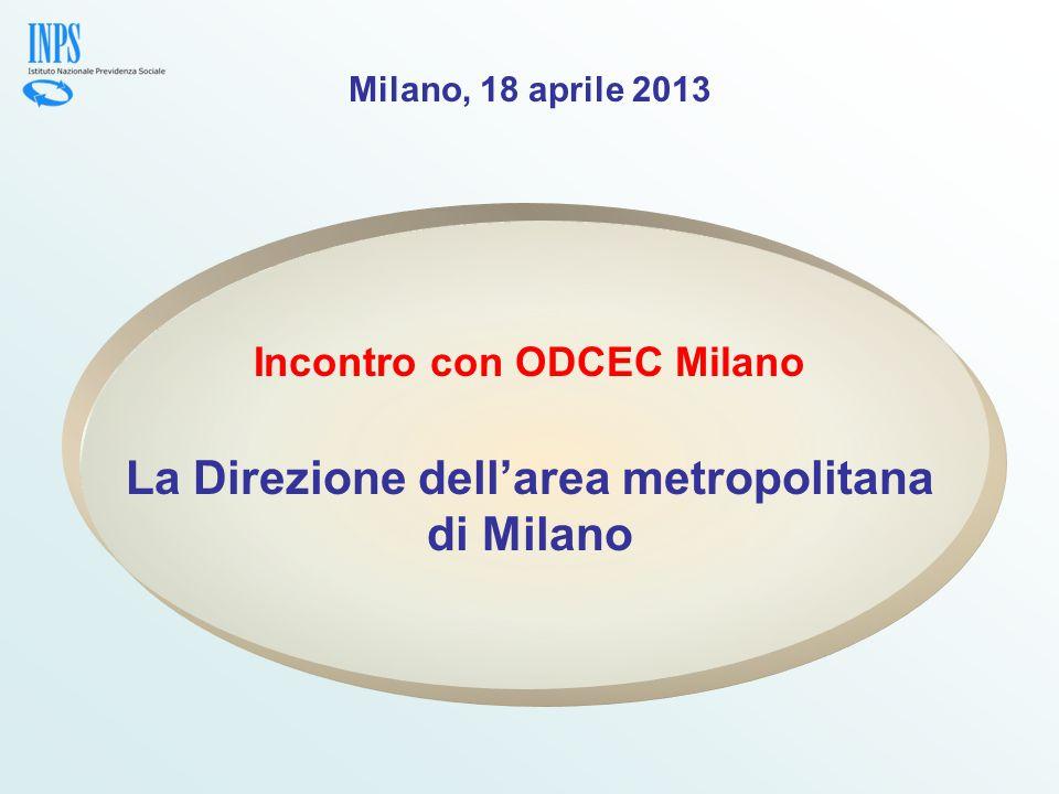 La Direzione dell'area metropolitana di Milano