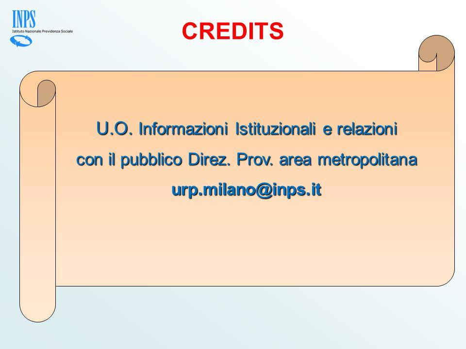 CREDITS U.O. Informazioni Istituzionali e relazioni