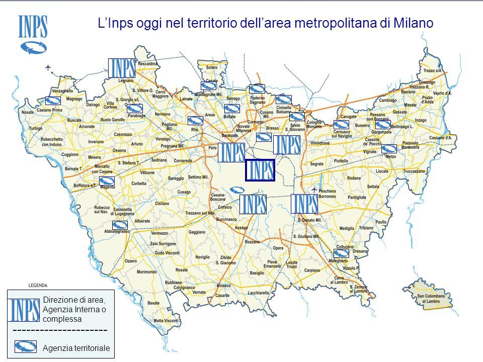 L'Inps oggi nel territorio dell'area metropolitana di Milano