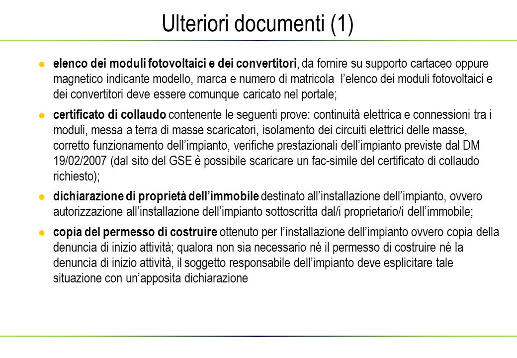 Ulteriori documenti (1)