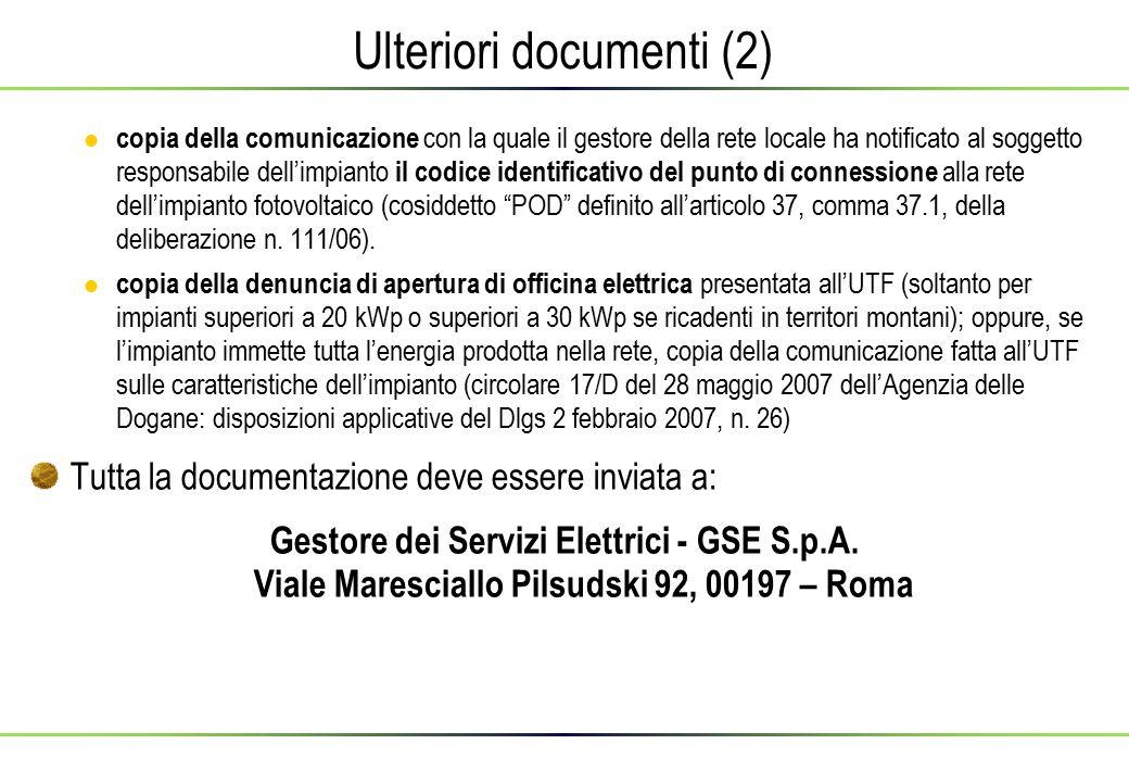 Ulteriori documenti (2)