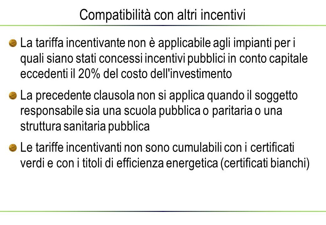 Compatibilità con altri incentivi