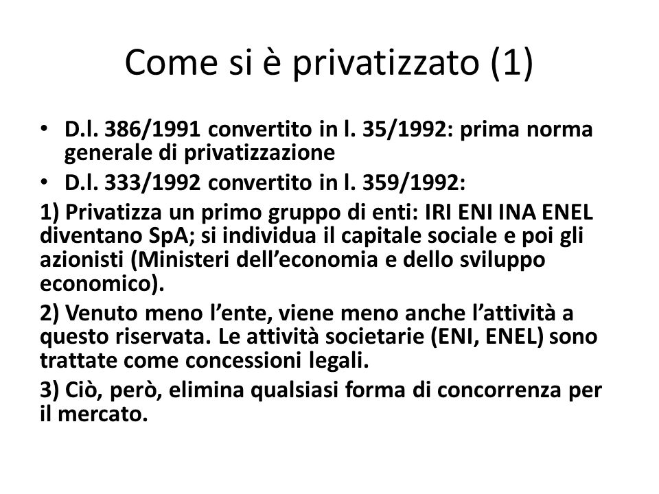 Come si è privatizzato (1)