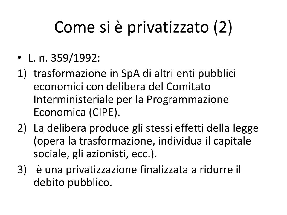 Come si è privatizzato (2)