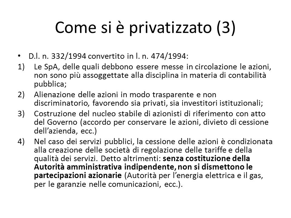 Come si è privatizzato (3)