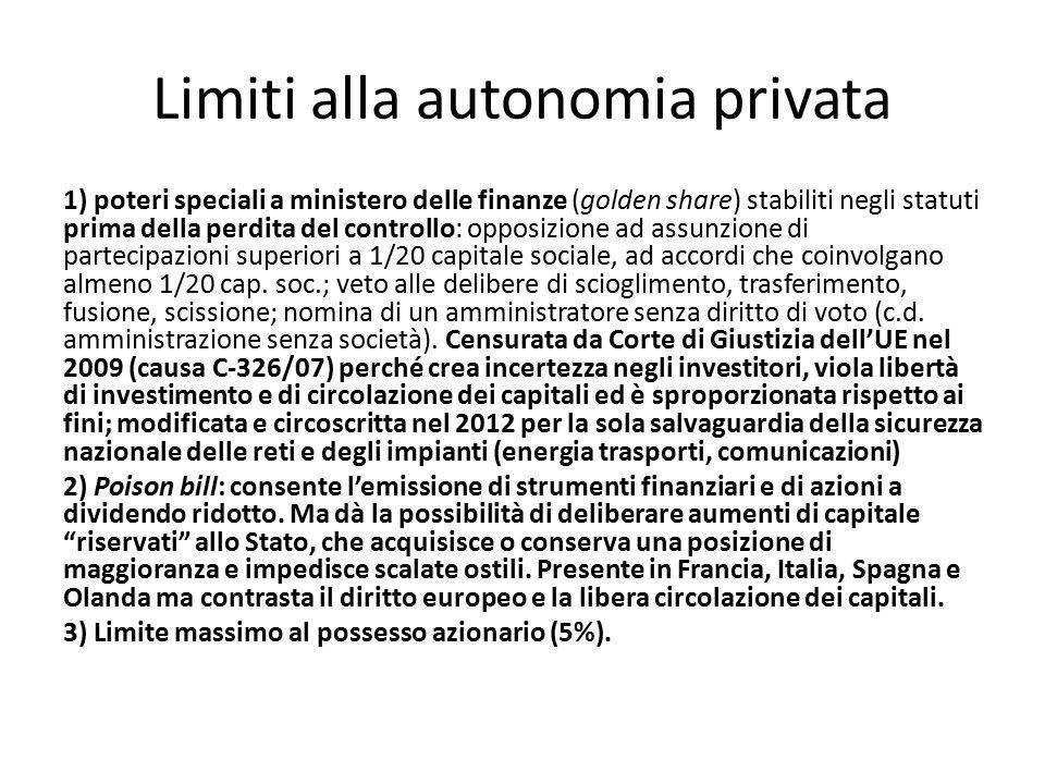 Limiti alla autonomia privata