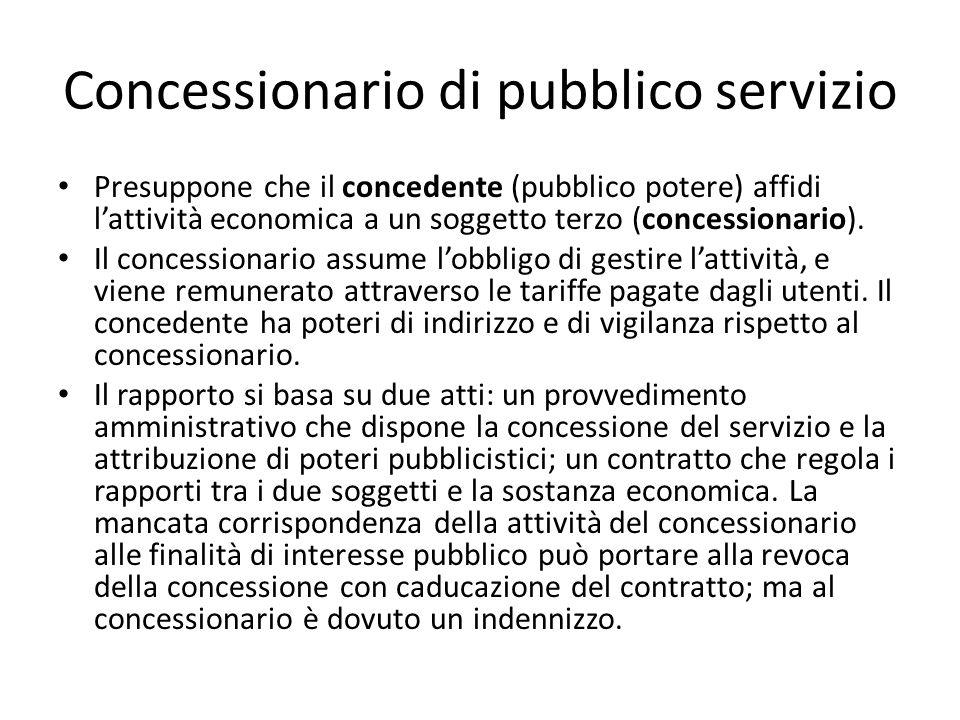 Concessionario di pubblico servizio