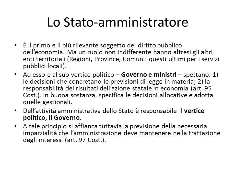 Lo Stato-amministratore