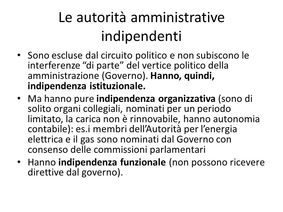 Le autorità amministrative indipendenti