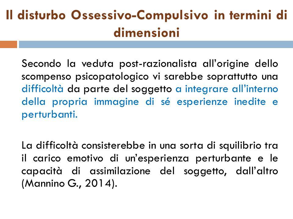 Il disturbo Ossessivo-Compulsivo in termini di dimensioni