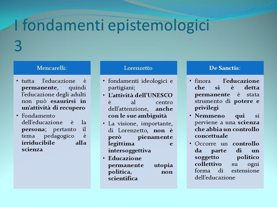 I fondamenti epistemologici 3