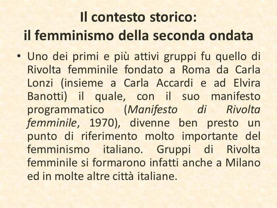 Il contesto storico: il femminismo della seconda ondata