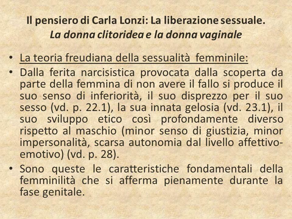 La teoria freudiana della sessualità femminile: