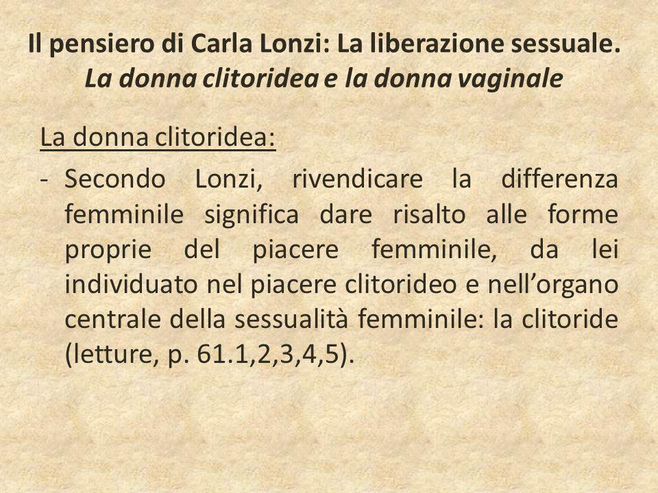 Il pensiero di Carla Lonzi: La liberazione sessuale