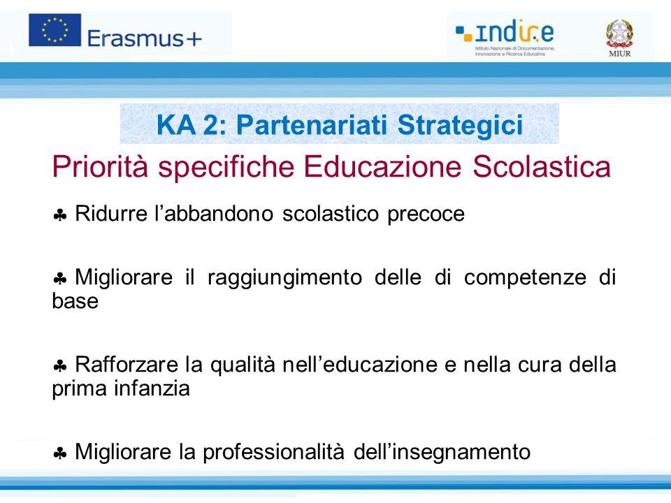 Priorità specifiche Educazione Scolastica