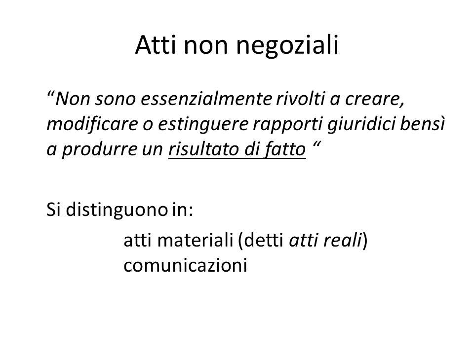 Atti non negoziali