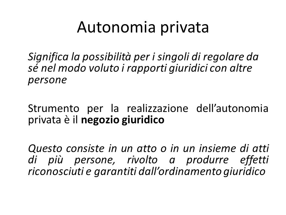 Autonomia privata