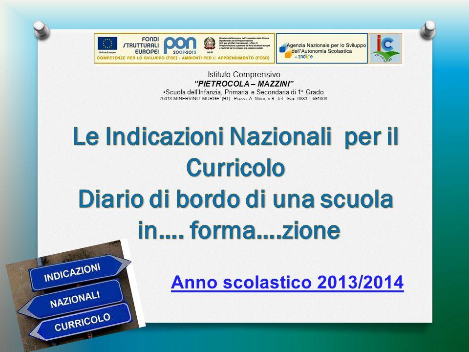 Le Indicazioni Nazionali per il Diario di bordo di una scuola
