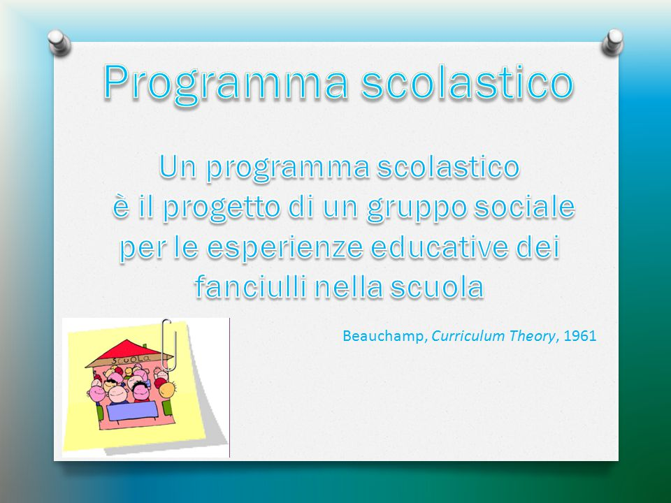 Un programma scolastico