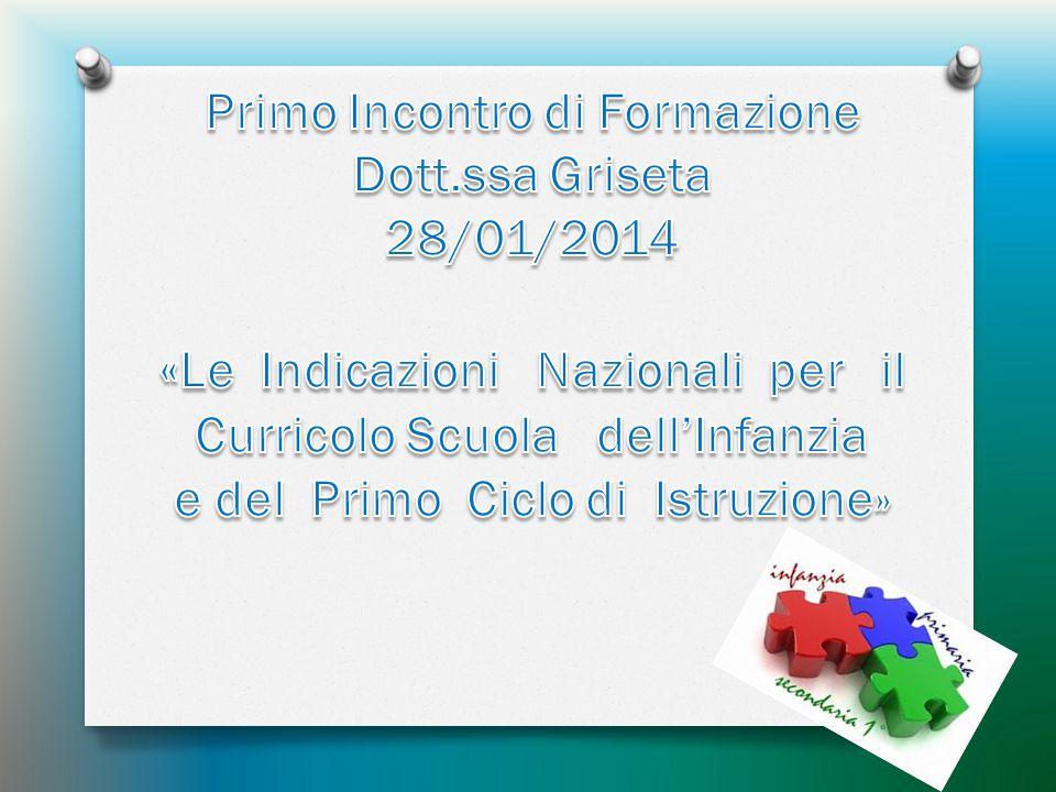 «Le Indicazioni Nazionali per il Curricolo Scuola dell'Infanzia
