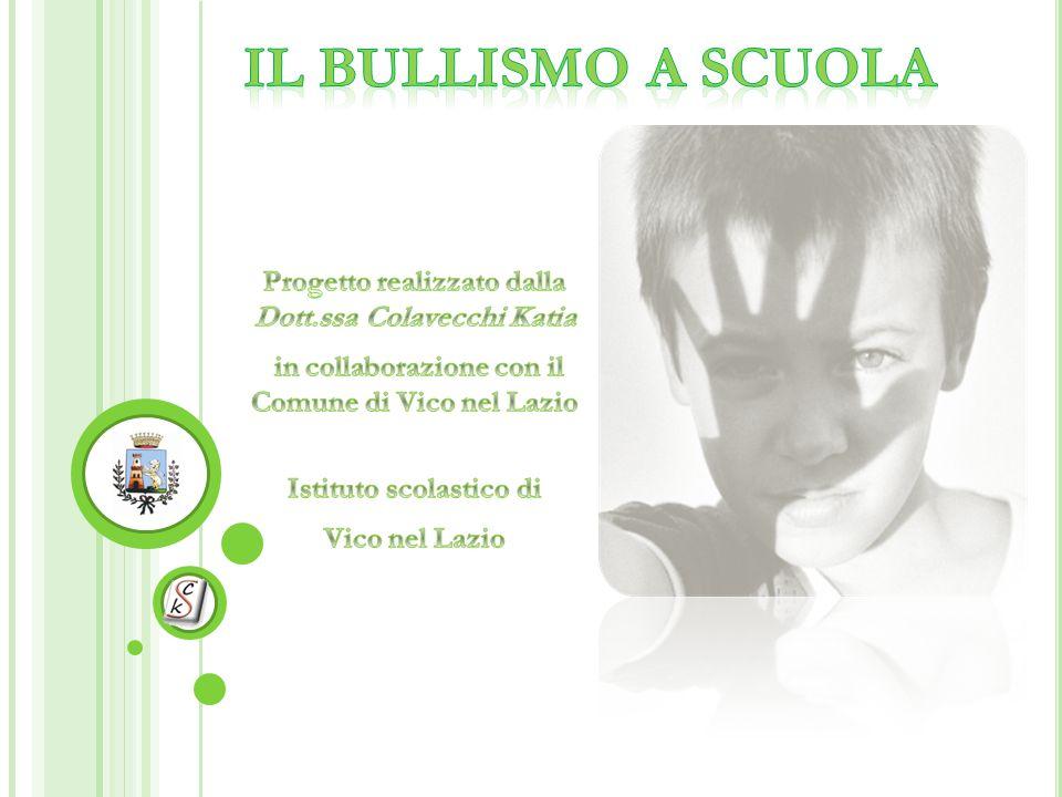 Il Bullismo a scuola Progetto realizzato dalla Dott.ssa Colavecchi Katia. in collaborazione con il Comune di Vico nel Lazio.