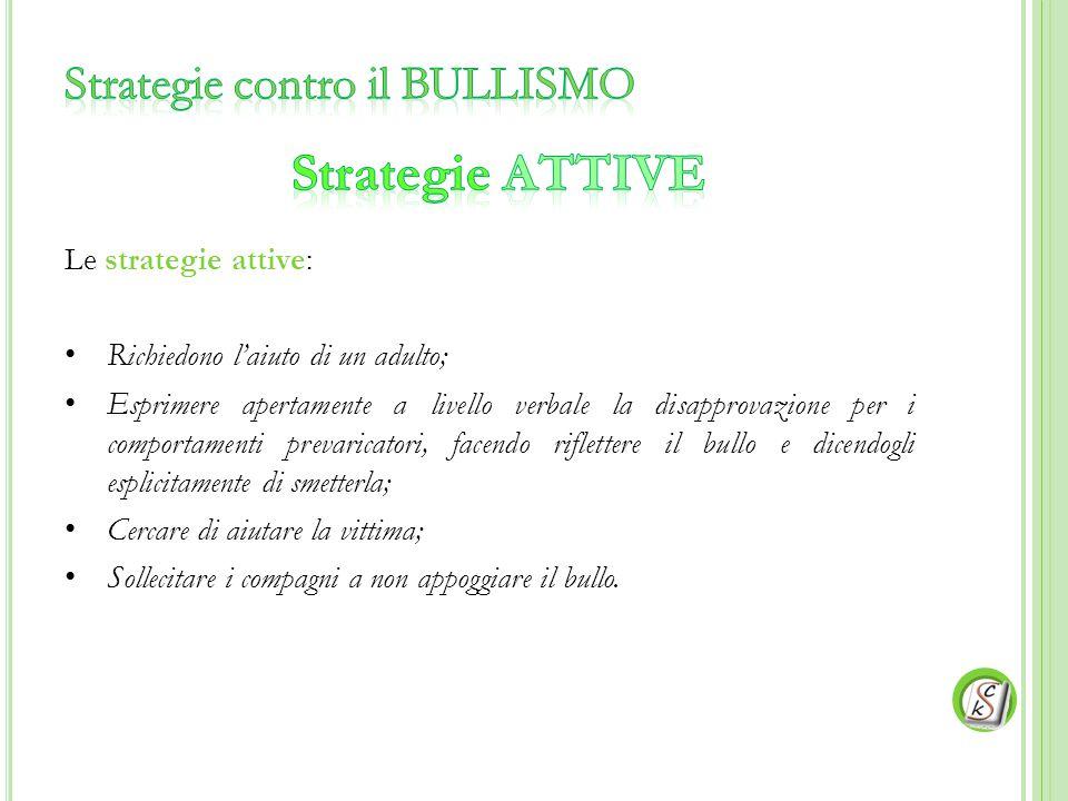 Strategie contro il BULLISMO