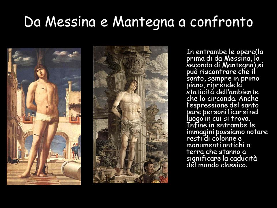 Da Messina e Mantegna a confronto