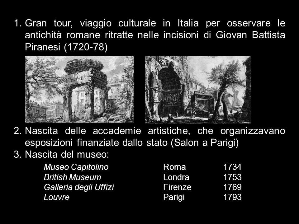 Gran tour, viaggio culturale in Italia per osservare le antichità romane ritratte nelle incisioni di Giovan Battista Piranesi (1720-78)
