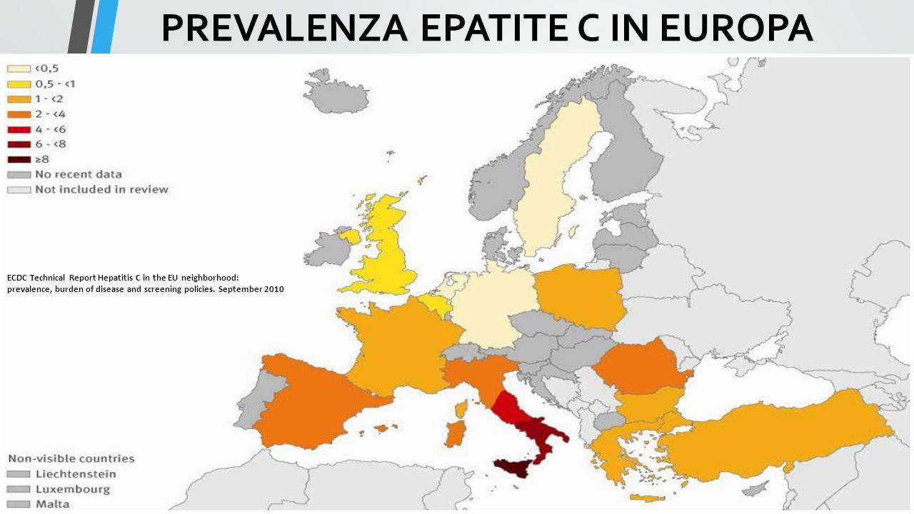 PREVALENZA EPATITE C IN EUROPA