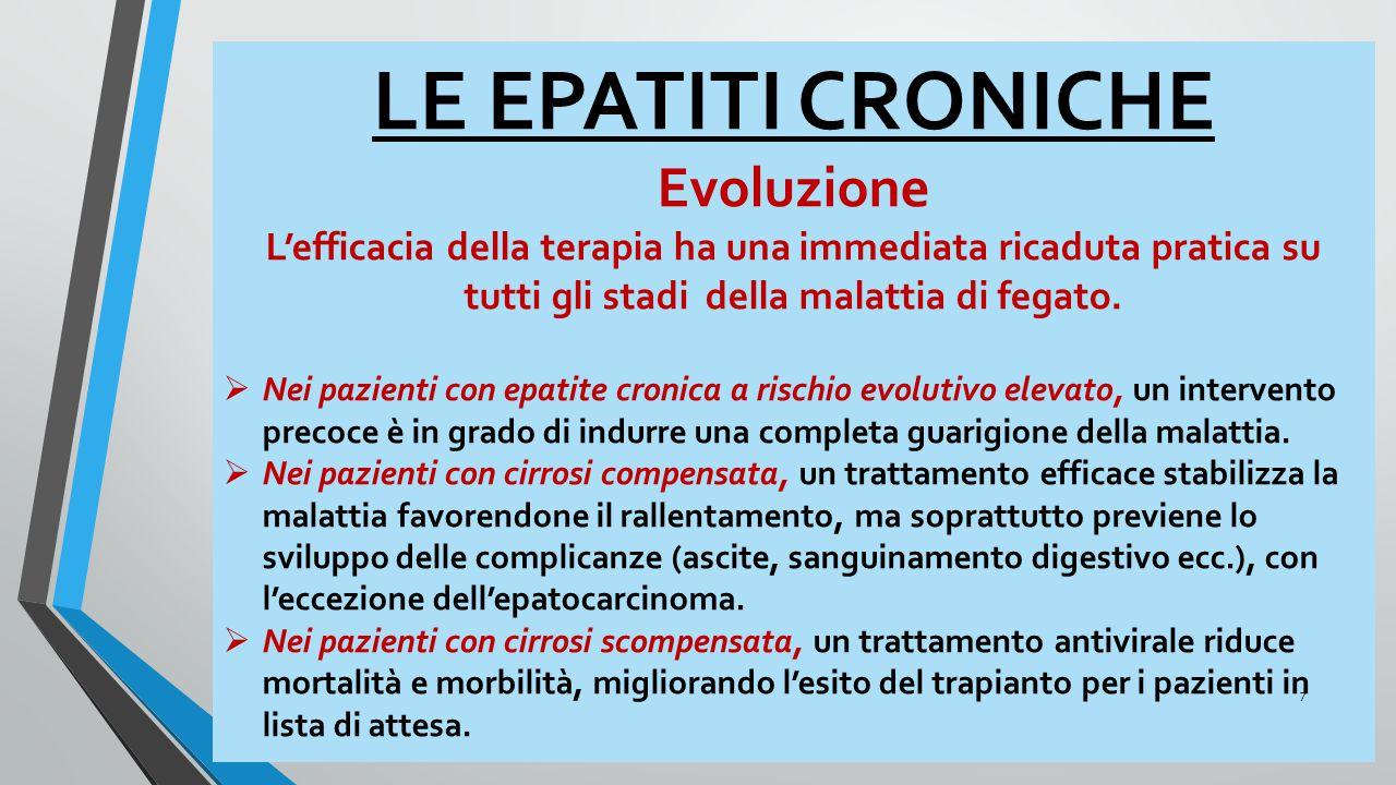 LE EPATITI CRONICHE Evoluzione