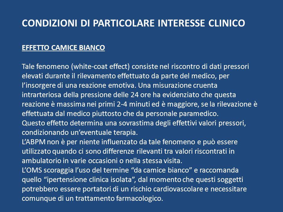 CONDIZIONI DI PARTICOLARE INTERESSE CLINICO