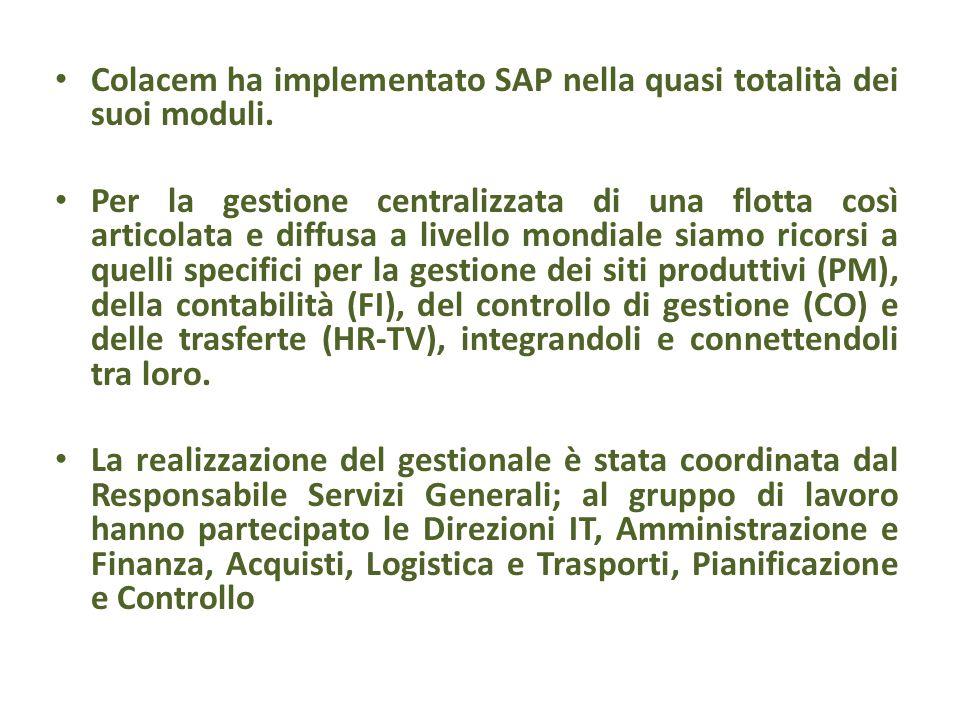 Colacem ha implementato SAP nella quasi totalità dei suoi moduli.