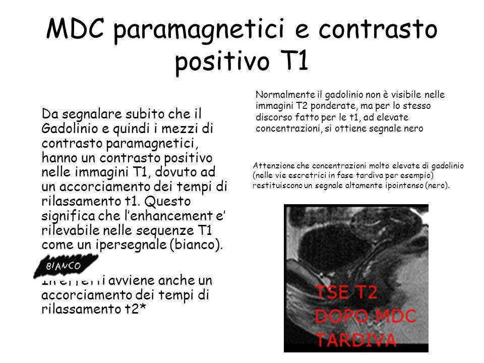 MDC paramagnetici e contrasto positivo T1