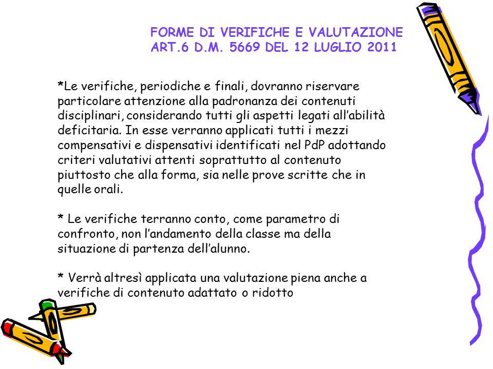 FORME DI VERIFICHE E VALUTAZIONE