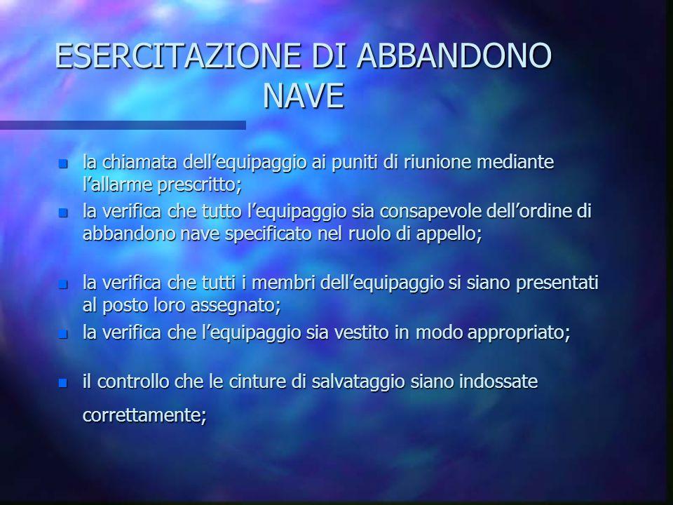 ESERCITAZIONE DI ABBANDONO NAVE